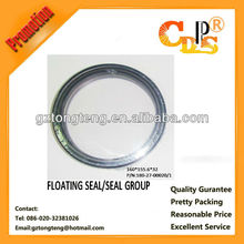 Floating seal ring for excavator gearbox