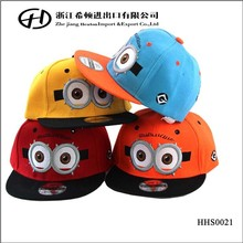 2015 fashion summer hats Big eyes Embroidery designs jazz kids hats for boy