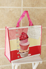 plastic grocery holder pp laminated bag mood magic shopping with ribbon cheap non woven bag foldable zipper tote bag