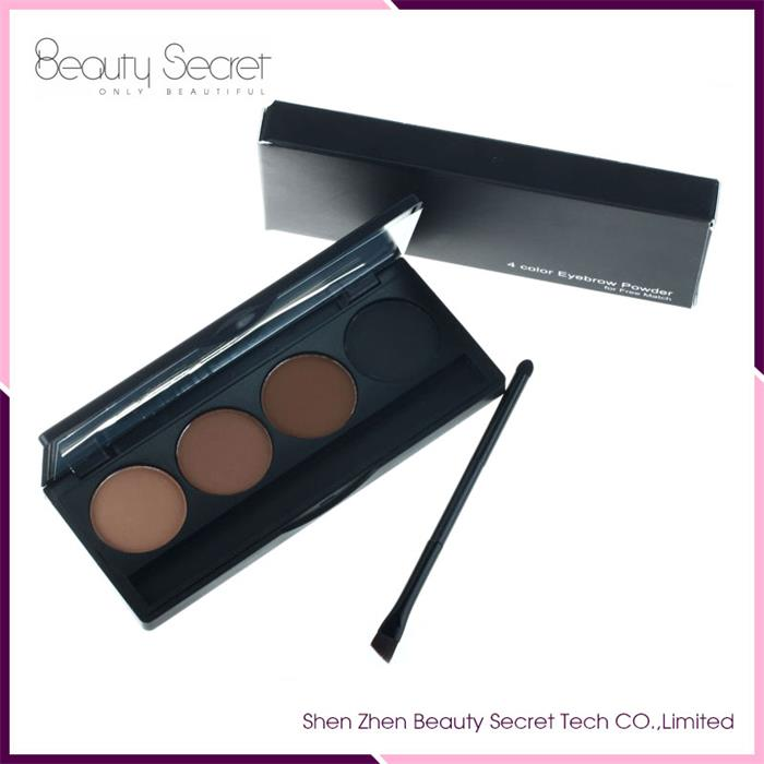 New hot sale 4 colors private label eyeshadow palette manufacture OEM 4 color waterproof matte eyebrow