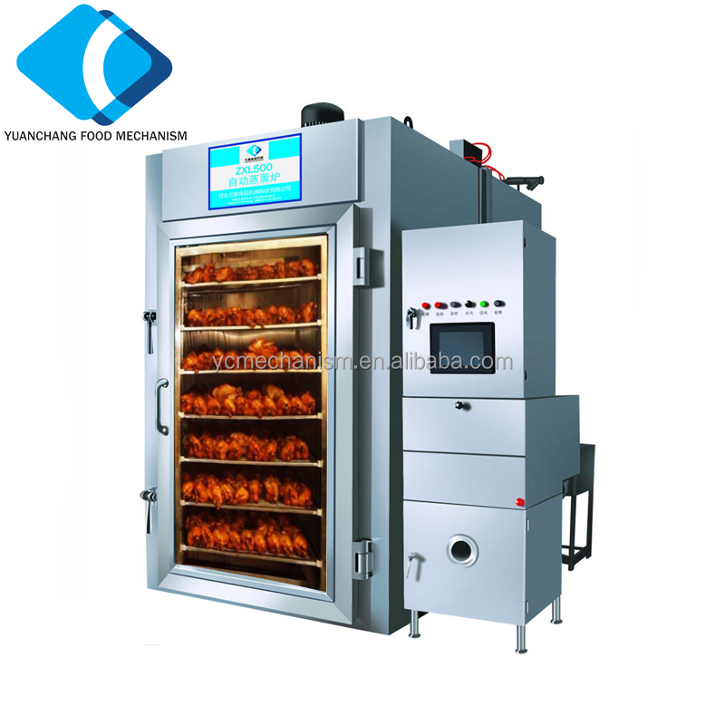 ZXL-250 Electric Steam Smoking House Machine Make Smoked Suasage and Smoked Chicken