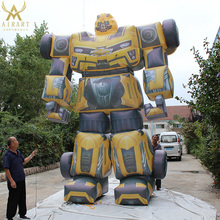 High quality inflatable robot Bumblebee moving cartoon film character
