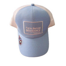 american farm bureau insurance tennessee cheap polyester mesh fabric adult embroidery snapback baseball trucker cap hat factory