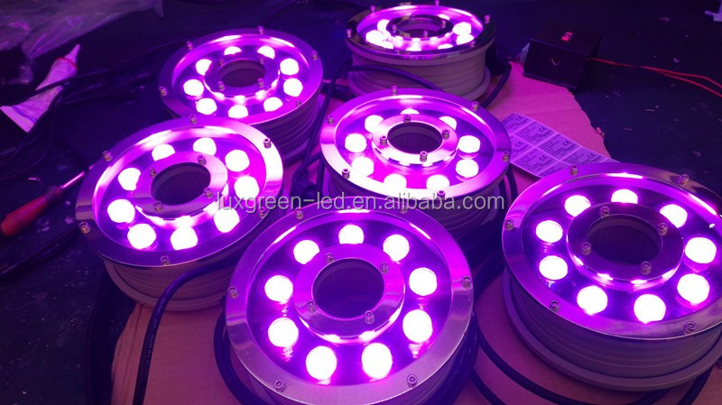 24v 27w underwater light IP68 RGB 3in1outdoor led light by dmx 3years warranty