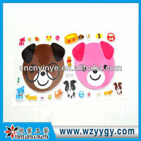 Popular bear decals for wall decoration, OEM plastic sticker