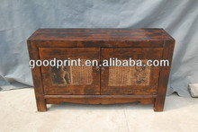 Chinese antique natural solid wood bedroom wardrobe cabinet