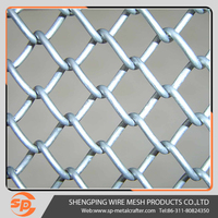 High quality and standard chain link fence mesh fabric