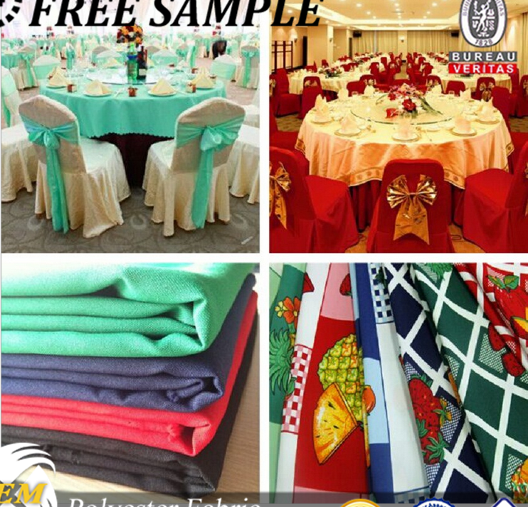 Hot selling 2016 wholesale decorate wedding polyester printed fabric minimat fabric