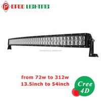 2015 4x4 accessories 288w 50'' curved 4D led offroad light bar