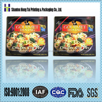 Hongtai gravure printing flexible laminated materials plastic printed packaging bag packing frozen food