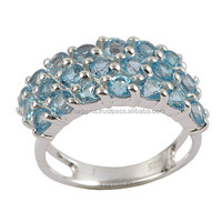 Sky Blue Topaz Rings In 925 Sterling Silver from India