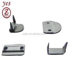 metal trouser hook and eye, hook and bar fasteners