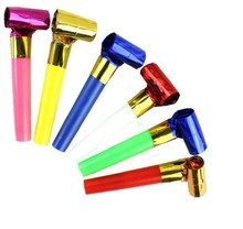 New Colorful Birthday Party Supplies Cheerleader Whistle Roll Blow Outs Noisemaker Festive Wedding Screaming toys