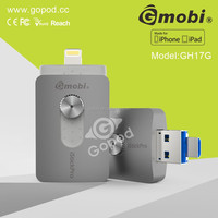 Gmobi iStick Pro USB memory stick with Lighting USB key For iPhones, iPads & Computers