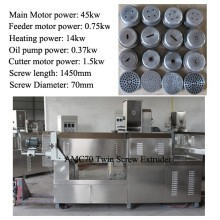 150kg/h 200kg/h AMC Snack food Twin/Double screw extruder with good quality