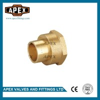 APEX Brass Female Reducing Straight Solder Fittings Coupling