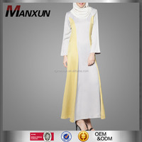 New Style OEM Factory Muslim Abaya High Quality Contrast Color Dubai Abaya sale for Muslims