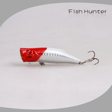 fishing lures/Popper/70mm/10g/topwater/ red head/sprts