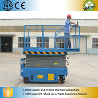 Convenience home use Window cleaning scissor lift hydraulic self propelled scissor lift