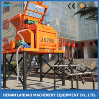 Professional manufacture JS750 electric self loading concrete mixer price
