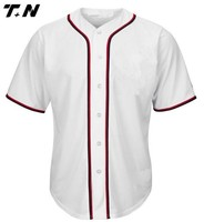 Top quality custom made youth wholesale blank baseball jerseys