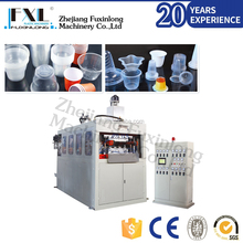 Disposable plastic container thermoforming machine