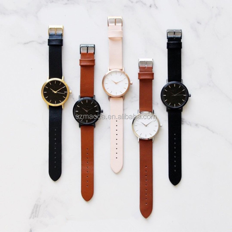 Five colors for your choice simple fashion watch trade assurance hot selling vogue watch