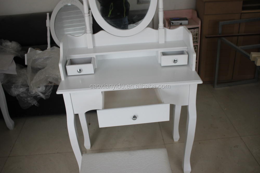 french style dressing table /NEW WHITE DRESSING ROOM TABLE WITH MIRROR AND STOOL BEDROOM DESK HAIR MAKE UP