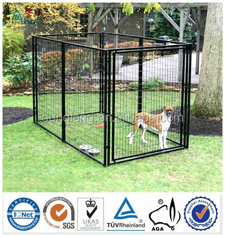 Heavy duty galvanized steel welded Hot sale 5' x 10' x 6' large outdoor best best kennel dog wholesale
