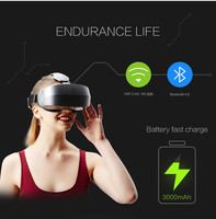 2016 HD VR BOX Virtual Reality Glasses 3D VR Headsets Helmet with Bluetooth Remote Controller