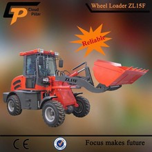 China High Efficiency zl15f Loader Matched with V Push Skis Blades