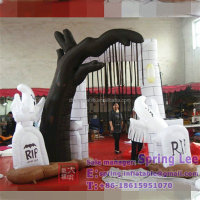 4*3m Customized halloween inflatable arch