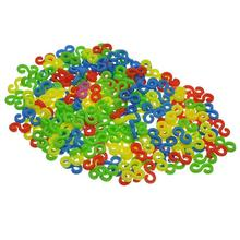 Plastic S-Clips For Loom Rubber Bands Bracelet Making DIY Tool At Random 11mm x 6mm,1Packet