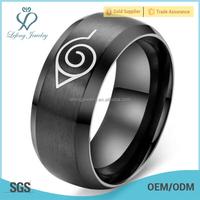 New desigh stainless steel all black ring,itachi akatsuki ring jewelry