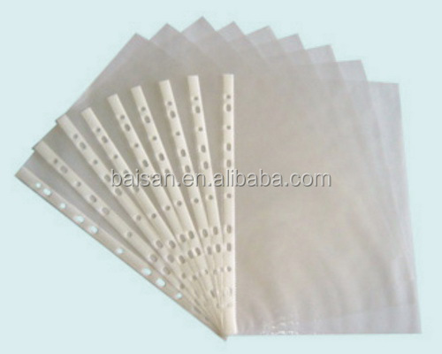 11 hole sheet protector,plastic a4 sheet protectors legal size sheet protector