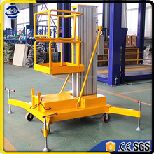 Single vertical Mast type aluminum alloy aerial work platform aluminum motorcycle lift
