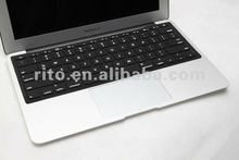 black silicone keyboard protector with letters for macbook