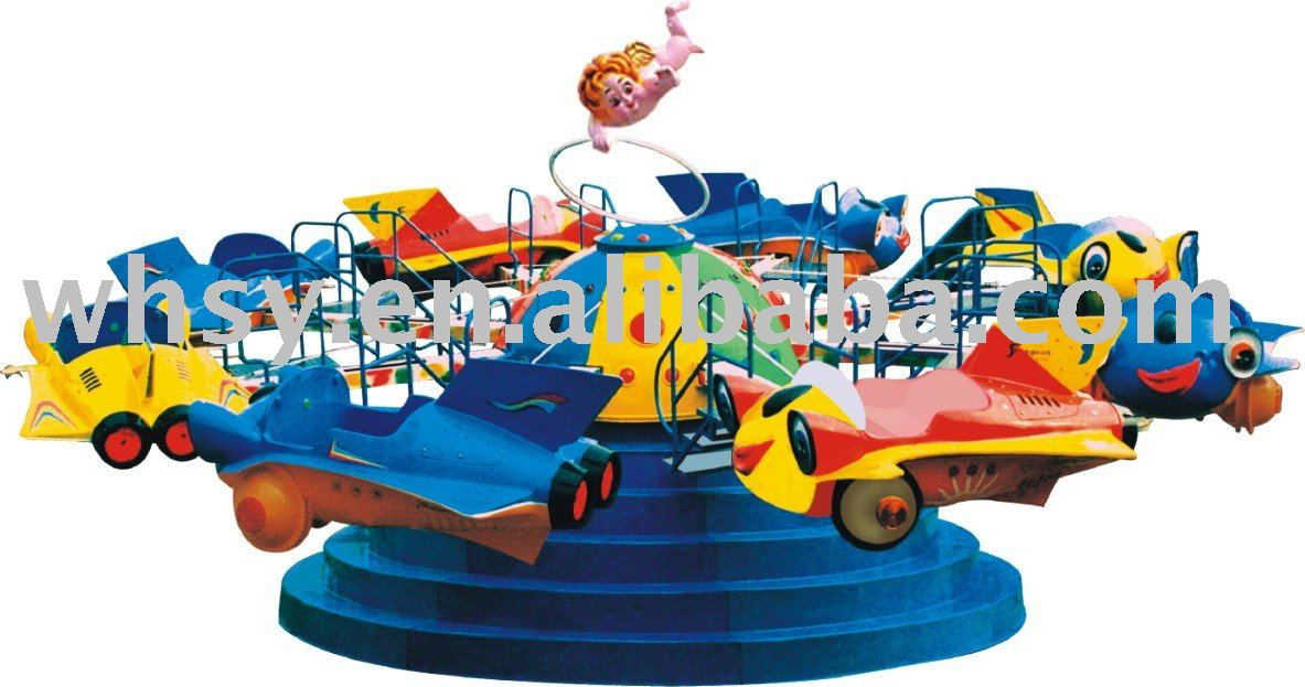 Small merry go round type revolving plane for kids