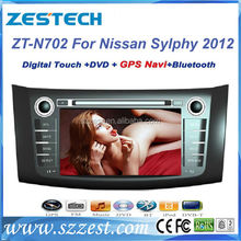 ZESTECH Wholesale touch screen gps oem Car autoradio FOR Nissan sylphy 2012 2013 auto radio fm am accessories