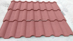 wooden House and cottage Roof System Colored Stone Coated Metal roofing Sheet