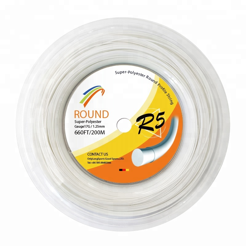 Betrouwbare reputatie tennisracket string whit ronde 17g/1.25mm