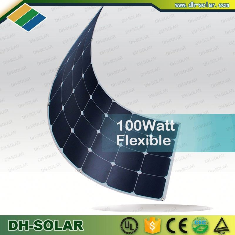Cheap solar panels china manufacturer 100W sun power semi flexible solar panel