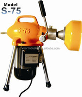 pipe drain cleaning machine 4'' sectional snake unclogging cleaner S75