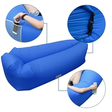 New lazy sofa air lounger inflatable sleeping bag with pillow headrest