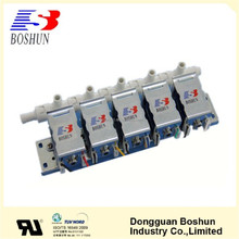 BS plastic material and solenoid power normally closed electric valve 12v DC