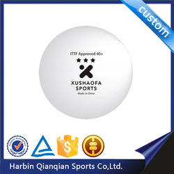ITTF Approved Xushaofa 3star plastic table tennis ball