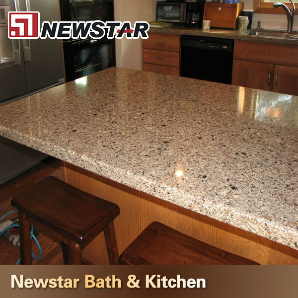 kitchen countertop options brown prefab quartz countertops