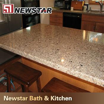 Kitchen countertop options brown prefab quartz countertops for Best quartz countertop brand