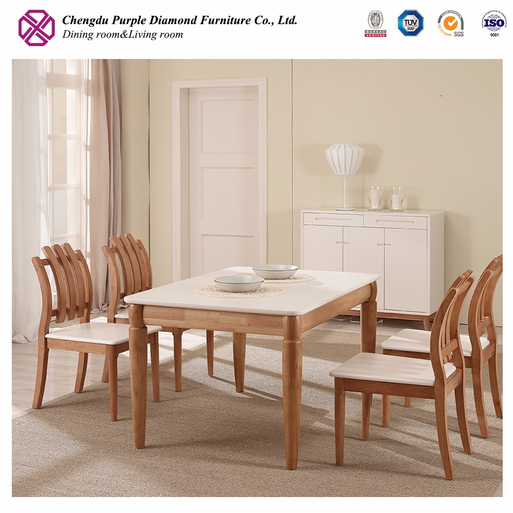 Modern dinning sets table with chair wooden dinning table set glass