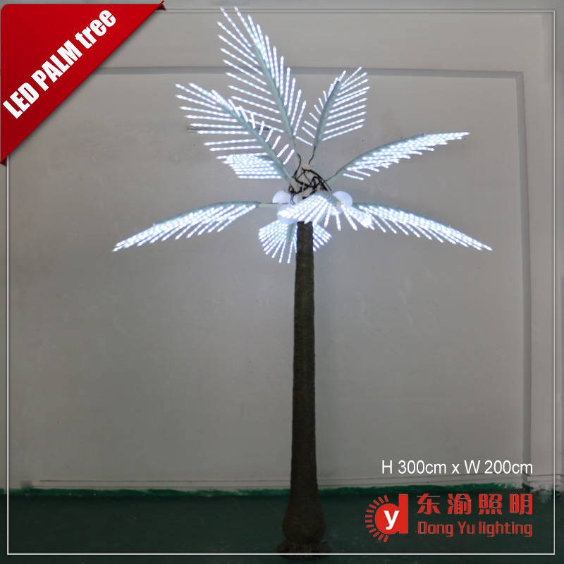 white light branches outdoor decoration high standard artificial trunk led palm tree